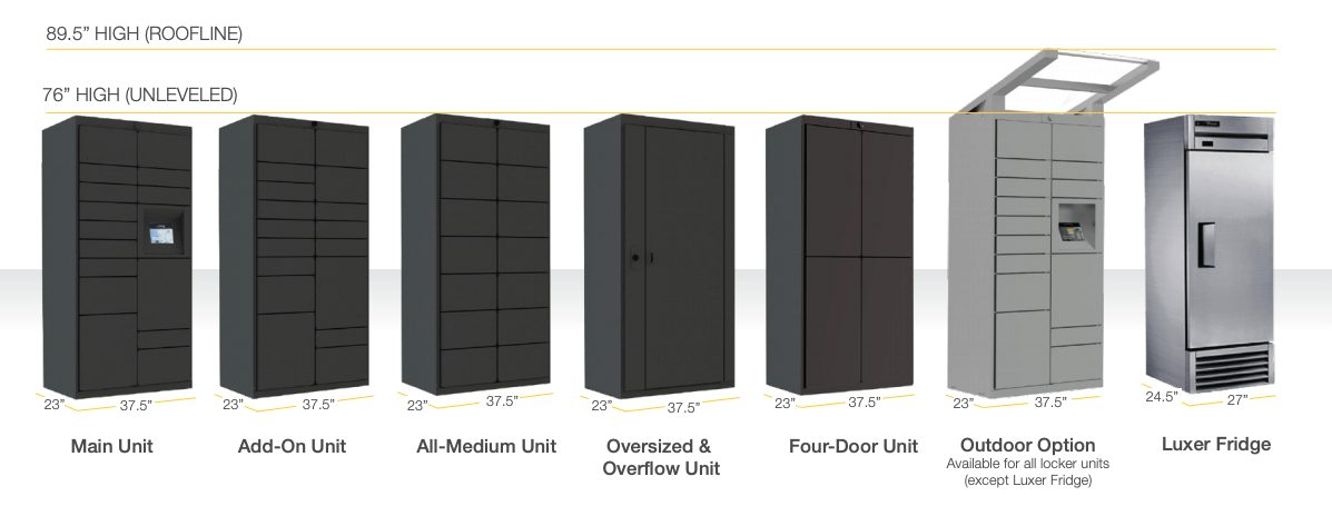 Luxer One Locker Unit Options